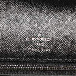 Louis Vuitton Black Taiga Leather Selenga Pochette Bag