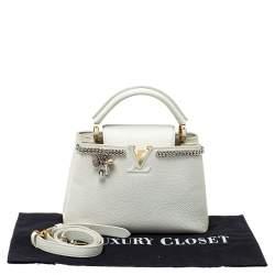 Louis Vuitton Snow White Taurillon Leather Capucines BB Bag