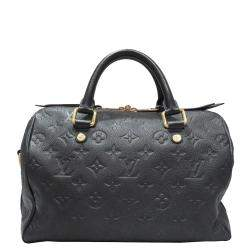 Louis Vuitton Black Empreinte Leather Speedy Bandoulière 25 Bag