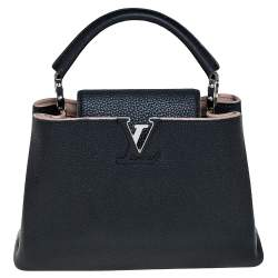 Louis Vuitton Black Taurillon Leather Capucines BB Bag