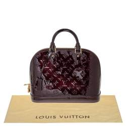 Louis Vuitton Amarante Monogram Vernis Leather Alma PM Bag