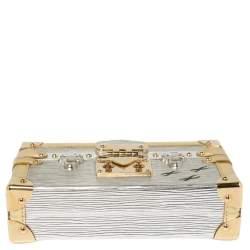 Louis Vuitton Metallic Silver/Gold Epi Leather Petite Malle Bag