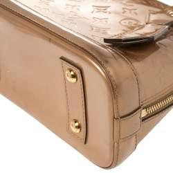Louis Vuitton Beige Monogram Vernis Alma BB Bag