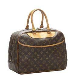 Louis Vuitton Brown Monogram Canvas Deauville Bag