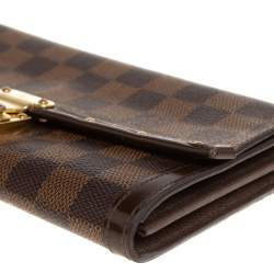 Louis Vuitton Damier Ebene Coated Canvas And Leather Venice Wallet
