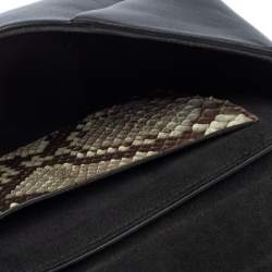Louis Vuitton Brown/Black Leather and Python Love Note Bag