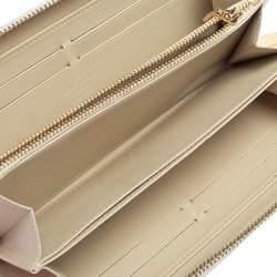 Louis Vuitton Blanc Corail Monogram Vernis Zippy Wallet