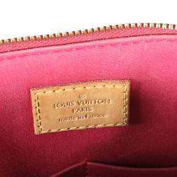 Louis Vuitton Red Monogram Vernis Alma PM Bag