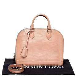 Louis Vuitton Rose Nacre Epi Leather Alma PM Bag