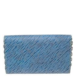 Louis Vuitton Denim Light Epi Leather Twist Limited Edition Wallet On Chain