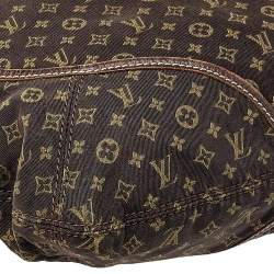 Louis Vuitton Fusain Monogram Mini Lin Canvas Manon MM Bag