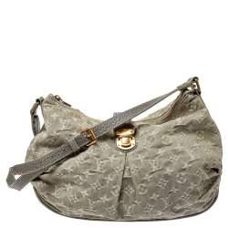 Louis Vuitton Grey Monogram Denim Slightly Bag