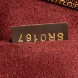 Louis Vuitton Bordeaux Damier Ebene Canvas and Taurillon Leather Normandy Bag