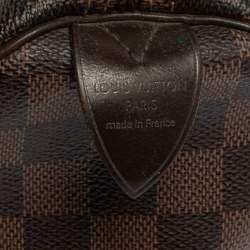 Louis Vuitton Damier Ebene Canvas Speedy 35 Bag