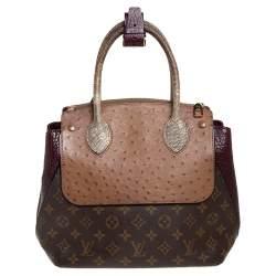 Louis Vuitton Bordeaux Exotique Monogram Limited Edition Majestueux PM Bag