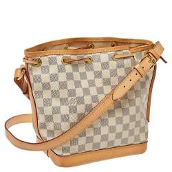 Louis Vuitton White Damier Azur Canvas Noe BB Bucket Bag