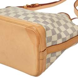 Louis Vuitton White Damier Azur Canvas Noe BB Bucket Bag