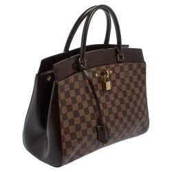 Louis Vuitton Damier Ebene Canvas Rivoli MM Bag