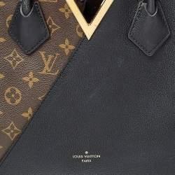 حقيبة لوي فيتون كيمونو جلد وكانفاس مونوغرامية سوداء/ بنية MM