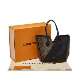Louis Vuitton Black Leather and Monogram Canvas Kimono MM Bag