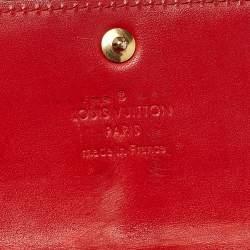 Louis Vuitton Orange Monogram Vernis Sarah Wallet