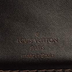 Louis Vuitton Brown Leather Compact Wallet