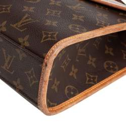 Louis Vuitton Brown Monogram Canvas And Leather Bel Air Top Handle Bag