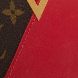 Louis Vuitton Red Monogram Canvas and Leather Kimono Card Case