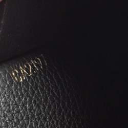 Louis Vuitton Monogram/Black Leather Double V Continental Wallet