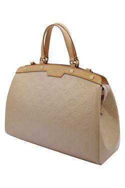 Louis Vuitton Beige Monogram Vernis Brea MM Bag