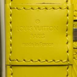 Louis Vuitton Pistache Epi Leather Alma MM Bag