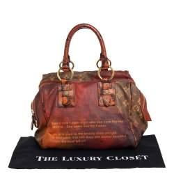 Louis Vuitton Monogram and Karung Trim Limited Edition Richard Prince Mancrazy Jokes Bag