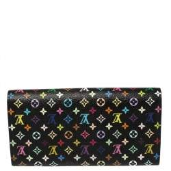 Louis Vuitton Black Monogram Multicolore Canvas Sarah Wallet