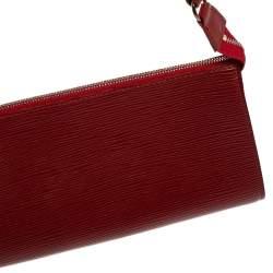 Louis Vuitton Rubis Epi Leather Pochette Accessoires Bag