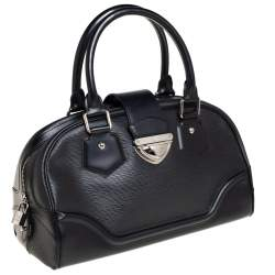 Louis Vuitton Black Epi Leather Bowling Montaigne GM Bag