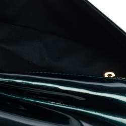 Louis Vuitton Petroleum Green Vernis Sobe Clutch