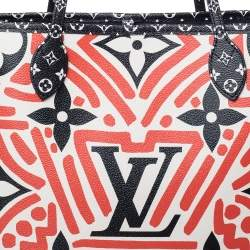 Louis Vuitton Cream/Red Giant Monogram Canvas Limited Edition Crafty Neverfull NM MM Bag