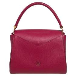 Louis Vuitton Brown/Red Leather and Monogram Canvas Double V Bag