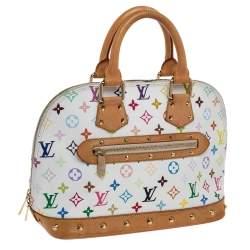 Louis Vuitton White Multicolor Monogram Canvas Alma PM Bag
