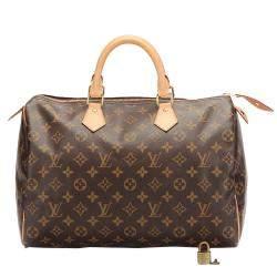 Louis Vuitton Brown Monogram Canvas Speedy 30 Bag