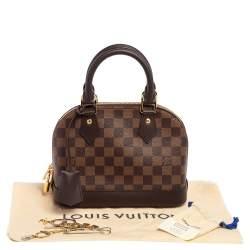 Louis Vuitton Damier Ebene Coated Canvas Alma BB Bag