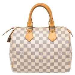Louis Vuitton Damier Azur Canvas Speedy 25 Bag