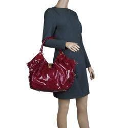 Louis Vuitton Cerise Monogram Patent Leather Surya L Bag