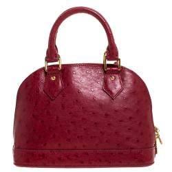 Louis Vuitton Jaipur Ostrich Alma BB Bag