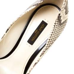 Louis Vuitton Python Eyeline Pointed Toe Pumps Size 37