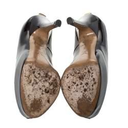 Louis Vuitton Burgundy Patent Leather Oh Really! Peep Toe Platform Pumps Size 35