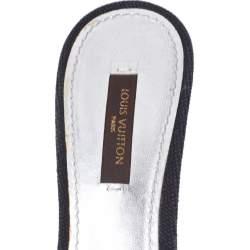 Louis Vuitton Black Canvas Love Bow Slide Sandals Size 37.5