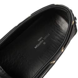 Louis Vuitton Black Monogram Leather Gloria Flat Loafers Size 37