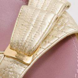 Louis Vuitton Gold Evening Sandals Size 39