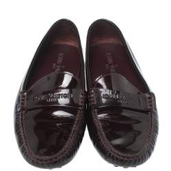 Louis Vuitton Amarante Vernis Leather Starter Loafers Size 39